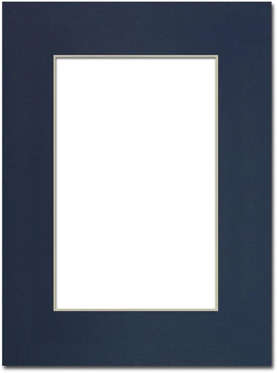PA Framing Cream Core//Bay Blue 9 x 12 inches Frame for 6 x 9 inches Photo Art Size Single Mat