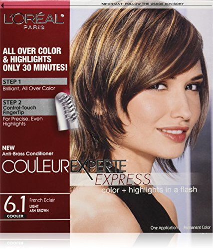 L'Oréal Paris Couleur Experte Hair Color + Hair Highlights, Light Ash Brown - French Eclair