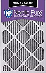 Nordic Pure 16x20x1PM8C-6 Pleated MERV 8 Plus Carbon AC Furnace Filters (6 Pack), 16 x 20 x 1""
