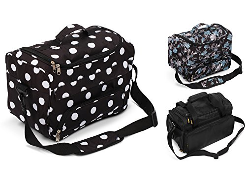 Kenley Professional Hairdressing Hair Salon Styling Tools Carry Case Bag Organizer - Polka Dot