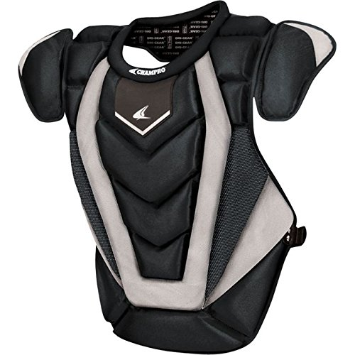 Champro Chest Protector - Champro Pro Plus Chest Protector (Black, 17.5-Inch length)
