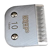 HQRP Animal Clipper Blade Size 10 for Oster A5 A-5 Turbo 2-Speed 078005-314-002, Golden A5, Turbo A5 Pet Grooming + HQRP Coaster
