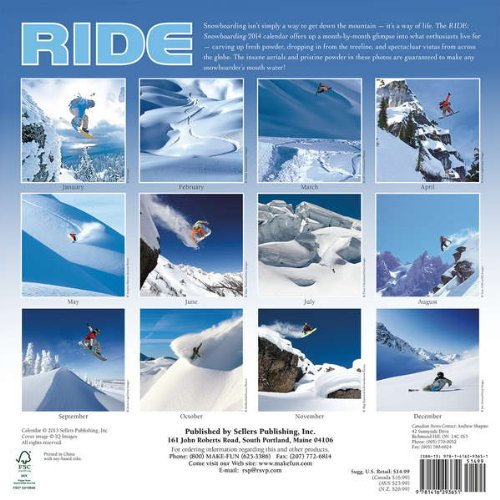 RIDE: Snowboarding 2014 Wall Calendar