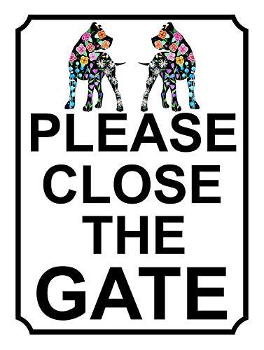 Please Close the Gate 金属板ブリキ看板注意サイン情報サイン金属安全サイン警告サイン表示パネル