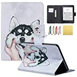 New Kindle Paperwhite 2018 Case, Coopts PU Leather Flip Folio Stand Wallet Case Covers with Card Slots & Magnetic Clasp for Amazon Kindle Paperwhite (10th Generation, 2018 Release), Husky