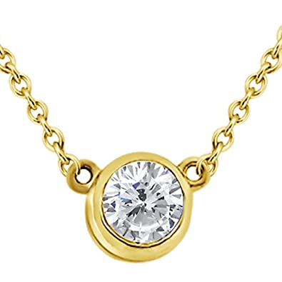 Amazon bezel set solitaire pendant setting in 14k yellow gold bezel set solitaire pendant setting in 14k yellow gold no diamond included aloadofball Gallery