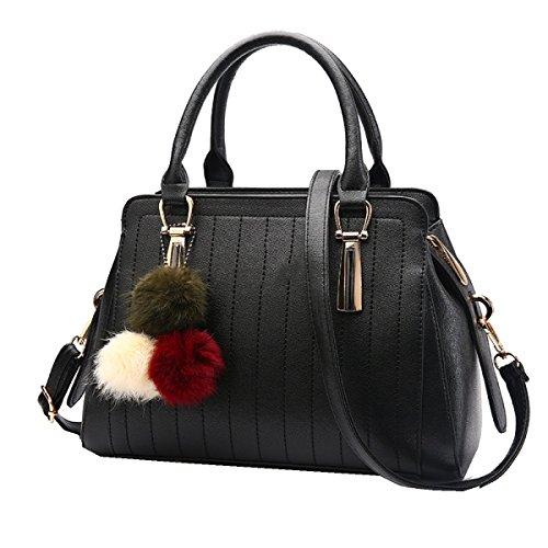 Yy.f Nuevos Bolsos De Moda Bolso De Mano Spiraea Rico Bolsos De Las Mujeres De Lujo De Moda Monedero Móvil Multicolor Black