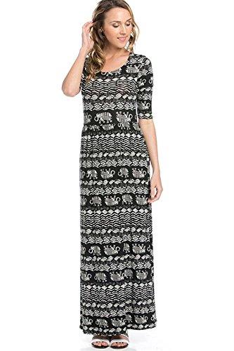 [Simlu Beach Maxi Dress for Women - Circus Print] (Circus Dress)