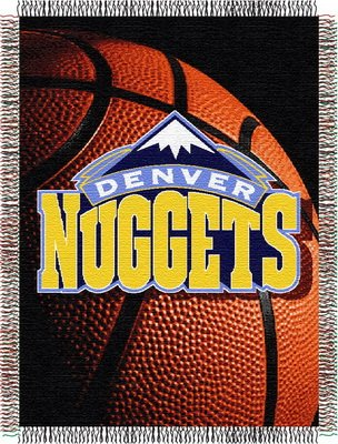 The Northwest Company Officially Licensed NBA Denver Nuggets Photo Real Woven Tapestry Throw Blanket, 48