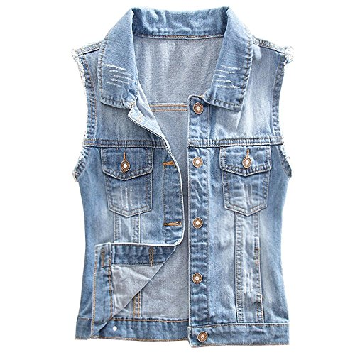 Womens Comfortable Ripped Jacket Sleeveless product image