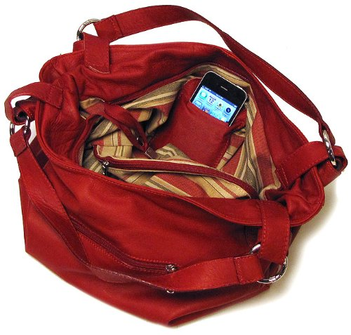 Siena Leather Red in Shoulder Bag Hobo TTw4qzHr
