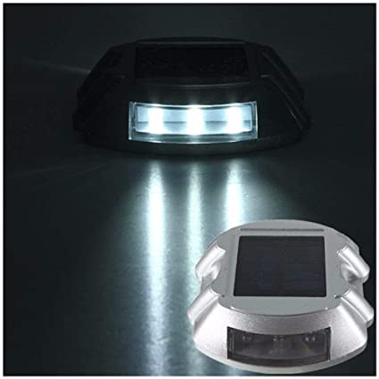 Road Stud Roadway Safety Ip68 Waterproof Casting Aluminum Road Stud Light Outdoor Solar Powered Lamp For Pathway Road Stud Light
