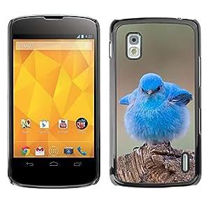 FlareStar Colour Printing Blue Baby Chick Cute Bird Tropical Spring cáscara Funda Case Caso de plástico para LG Google NEXUS 4 / Mako / E960