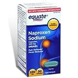 Equate - Naproxen Sodium 220 mg, 20 Liquid Softgels