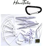 Yacool ® Hometalks® de Syma X5 X5c X5c-1 Quadcopter Set Completo Parte 4 * Motores Propulsores de Skid Landing Protectores de Motor Base + 1 Hometalks mosquetón