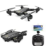 Gbell Camera Selfie RC Quadcopter - DM95HW Wifi FPV 720P 120° FOV Camera 2.4G Drone Toys for Kids Adults,Birthday Christmas New Year Gifts,Black (Black)