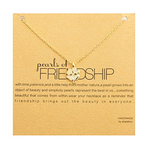 Spring Summer Wishbone Elegant Sterling Silver Four-Leaf Clover Necklace Pendant Women Girls Chain Clavicle Short Tide Yield (Gold s925 Silver Necklace Clover