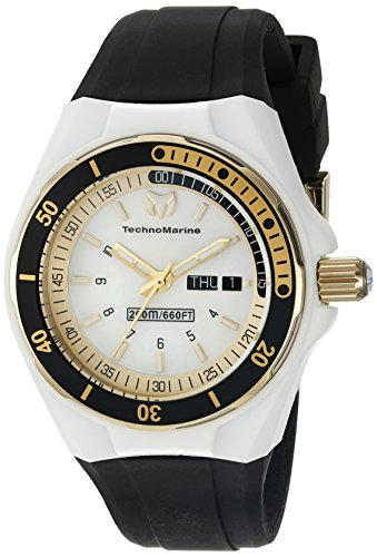 Technomarine Sport Wrist Watch - Technomarine Women's TM-115118 Cruise Sport Analog Display Swiss Quartz Black Watch