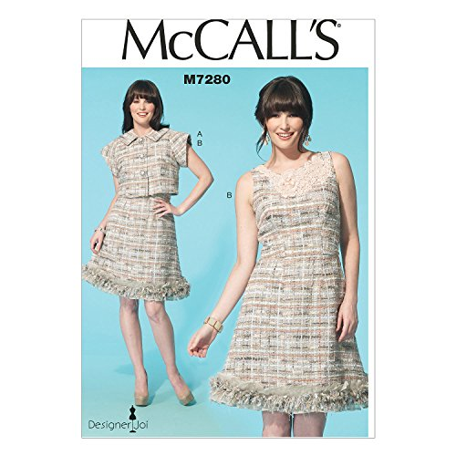 McCall's Patterns M7280 Misses' Jacket and Dress, Size F5 (16-18-20-22-24)