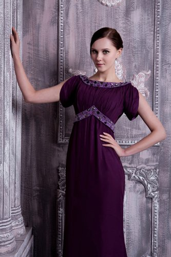 Zeitlos GEORGE Formale verziert mit Lange Abendkleid Perlen Lila lila BRIDE HHtrWwq5xv