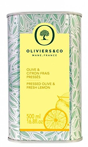 Oil Olive Lemon Agrumato - Oliviers & Co Italian Lemon Olive Oil, 16.8 fl. oz, Flavored Extra Virgin Olive Oil, First Cold Pressed with Lemon, Great for Pasta, Salads, Fruit, Fish or Vegetables