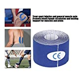 Sport Kinesiology Tape - Best Waterproof Uncut Muscle Support Tape for Sports Injuries-5Cm X 5M Roll,2 Roll