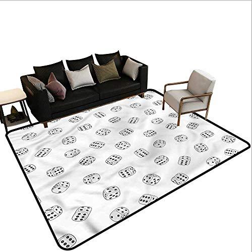 Casino,Polyester Non-Slip Doormat Rugs 36