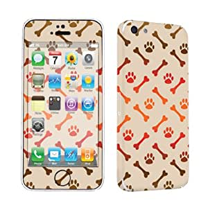 Apple iPhone 5C Vinyl Decal Sticker Protection Skin By SkinGuardz - Bones Paws