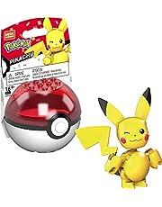 MegaConstrux GVK60, Pokémon Pikachu Bouwset, bouwspeelgoed voor kinderen (16 onderdelen), voor kinderen vanaf 6 Jaar