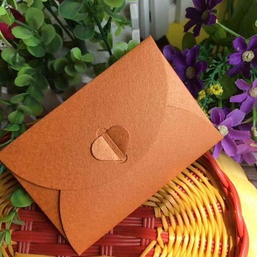 - Aircors 50 pcs/lot Fashion Retro Heart Shape Vintage Romantic Paper Envelop Gift for Wedding Invitation/Card Stationery - (Color: Orange)