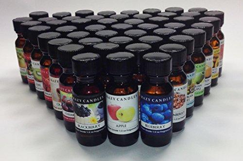 50 Bottles Set (Fruit Food Collection) 1/2 Fl Oz Each (15ml) Premium Grade Scented Fragrance Oils By Crazy Candles