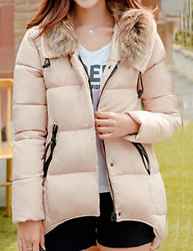 Long Women'S White Daily Cotton Coat Blue Cotton Cute Sleeve Solid 2XL Red Casual Long Parka ZHUDJ Hooded Green Black d5qYUd