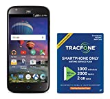 TracFone ZTE Zmax CHAMP 4G LTE Prepaid Smartphone with Amazon Exclusive Free $40 Airtime Bundle
