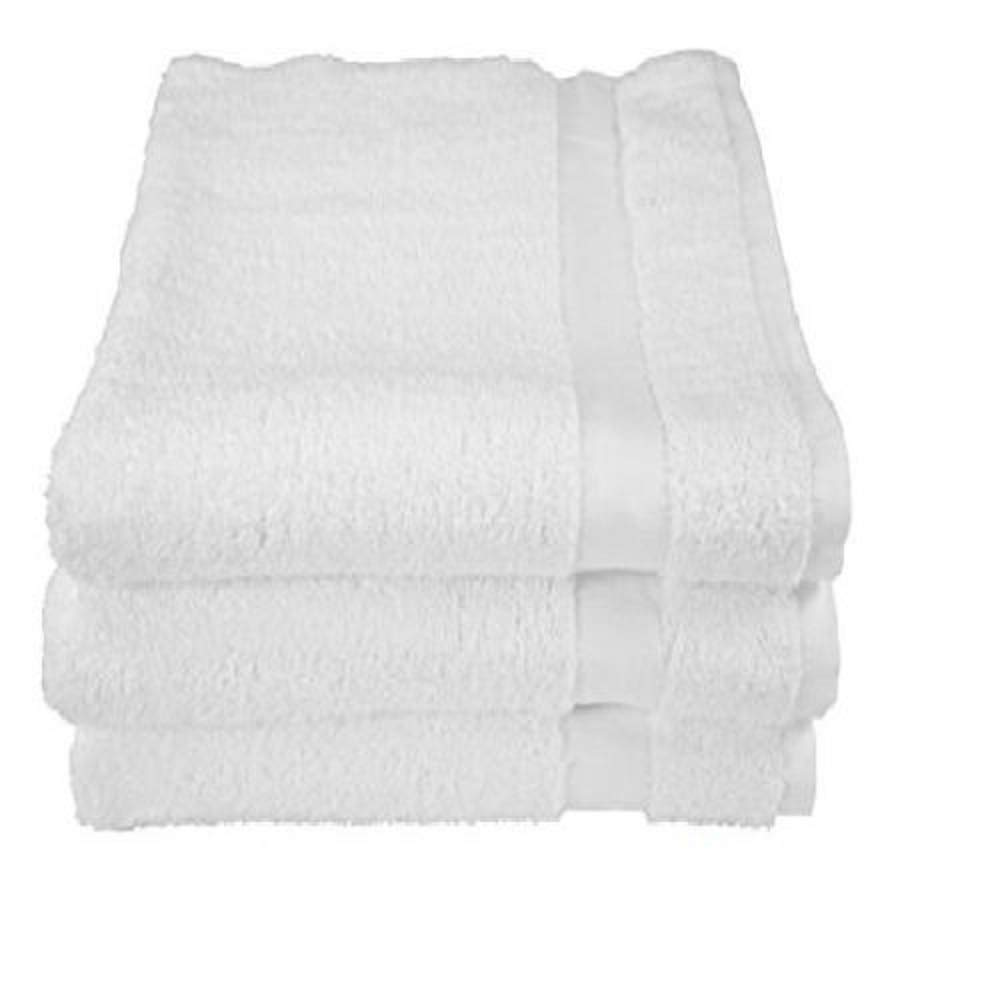 60 New white15x25 Pure Cotton Terry Hand Towels Salon/Gym Summit Collection