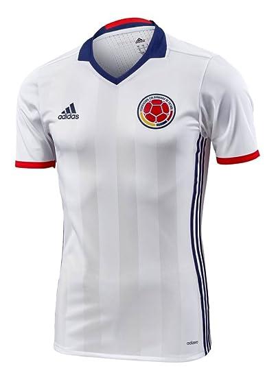 promo code 08da4 96fa7 adidas Colombia Home Authentic Soccer Jersey Copa America Centenario 2016