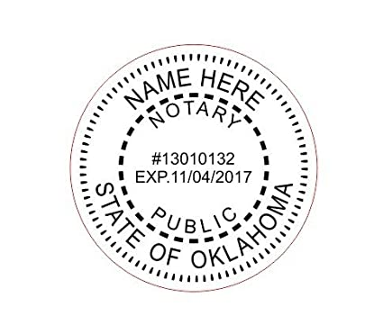 Amazon Com New Imprue Round Self Inking Notary Seal Rubber