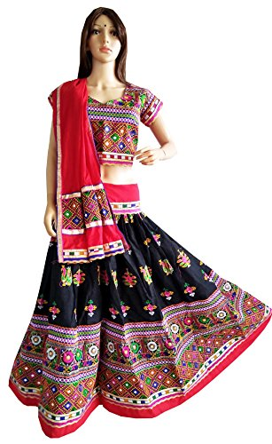 - Black Peacock embroidered cotton Chaniya choli |navratri chaniya choli, Indian girls wear, ethnic wear Gaghra choli set
