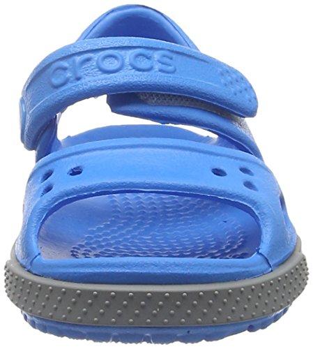 Crocs Kid's Boys and Girls Crocband II Sandal | Pre School Flat, Ocean/Smoke 8 M US Toddler by Crocs (Image #4)