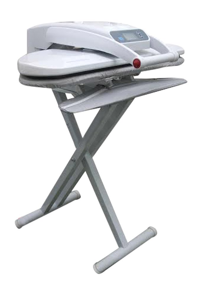 Ironing Press With Integrated Sleeveboard INCLUDES STAND! For Dry or Steam Pressing  1400 Watts! 38 Powerful Jets of Steam  100lbs of Pressure  Includes Extra Cover+Foam ($35 Value)! (Medium With Stand) Speedy Press