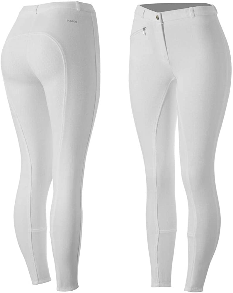 Mid-Rise Waist Horze Nordic Performance Womens Silicone Full Seat Riding Breeches