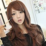 Wigs Winwuxi Womens Girls Fashion Wavy Curly Long Hair Human Full Wigs With Hairnet Deep Brown