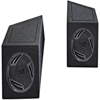 87-95 Jeep Wrangler YJ 6x9 Rockville Speakers+Enclosures For Wheel Well Ledges
