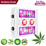 LED grow light COB led grow light dimmable 12-band full spectrum for indoor plants veg and flower UV&IR MaxBloom high yield 400W X4 Plus led grow light for marijuana (2017 X series)