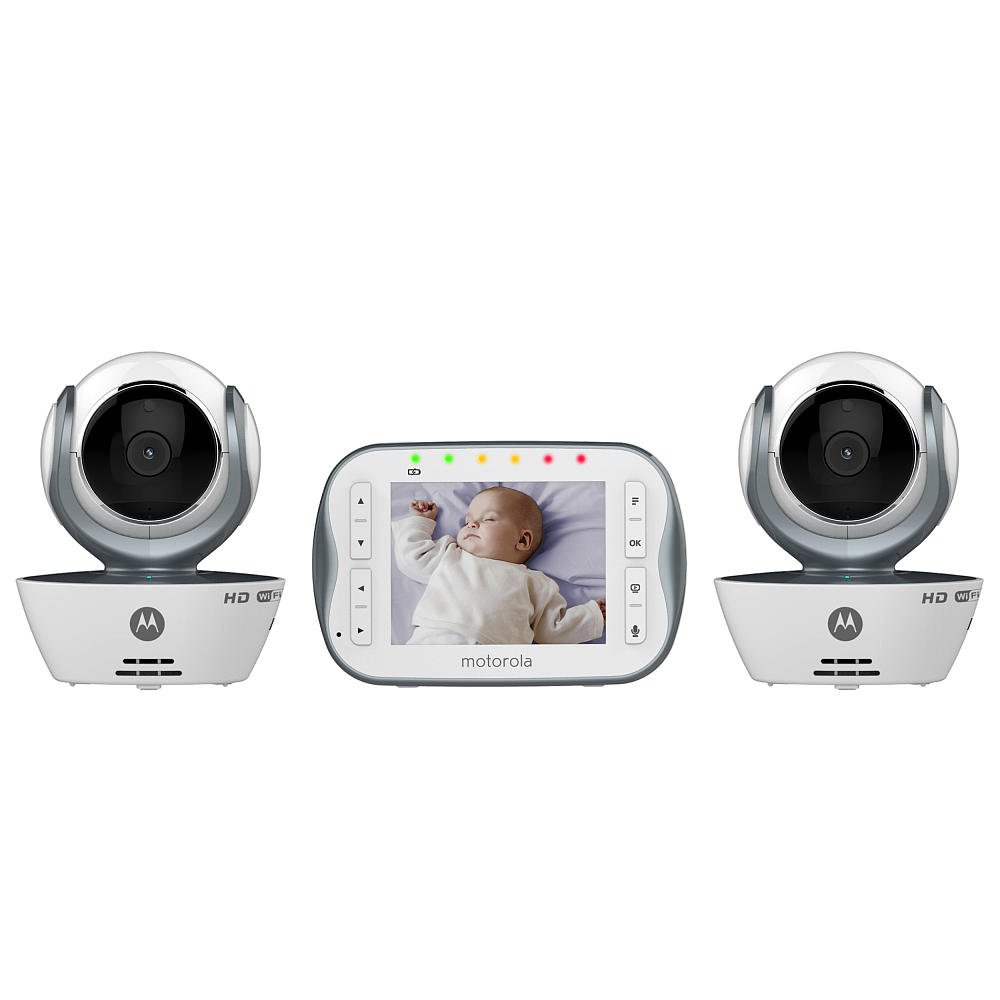 Motorola WiFi 3.5 Inch Video Baby Monitor Connect, Silver, Two Cameras