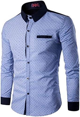 IYFBXl Camisa Activa para Hombres - Cuello Alto de Lunares, Azul, XXL: Amazon.es: Deportes y aire libre