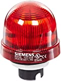 Siemens 8WD53 20-5AB Sirius Signal Column Beacon, Thermoplastic Enclosure, IP65 Protection, 70mm Diameter, LED Lamp, Steady Light, UC 24 V Rated Voltage. Red