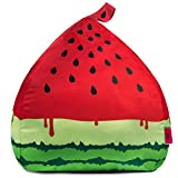 Fill It Stuffed Animal Bean Bag Storage | Watermelon Bag Design | Safe & Easy to use | Premium Quality Strong Zippers | GIANT Bean Bag Cover