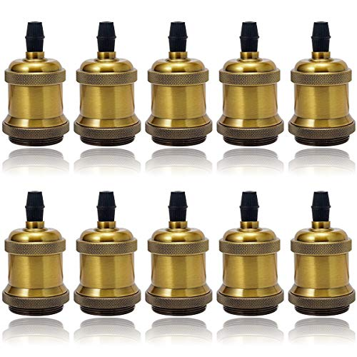 GreenSun LED Lighting Vintage lampfitting, industriële look, E27-fitting, Edison-fitting, retro hanglamp, adapter…