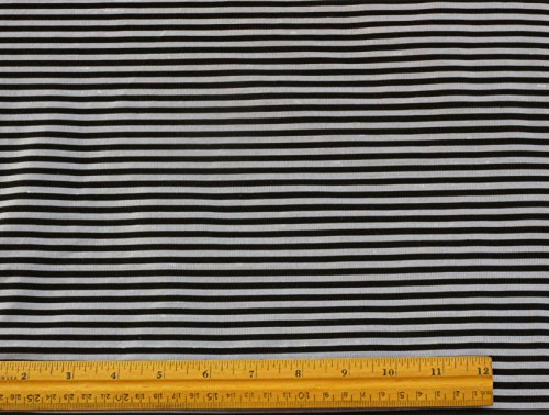 (Silver & Black Stripes Silk Dupioni Shantung, 100% Silk Fabric, By The Yard, 54