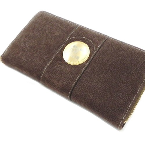 Wallet + checkbook holder zipped leather 'Ted Lapidus' brown. by Ted Lapidus